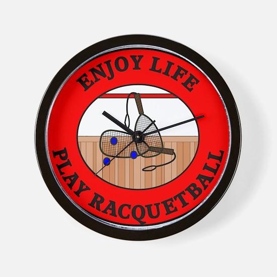 Enjoy Life Play Racquetball Wall Clock