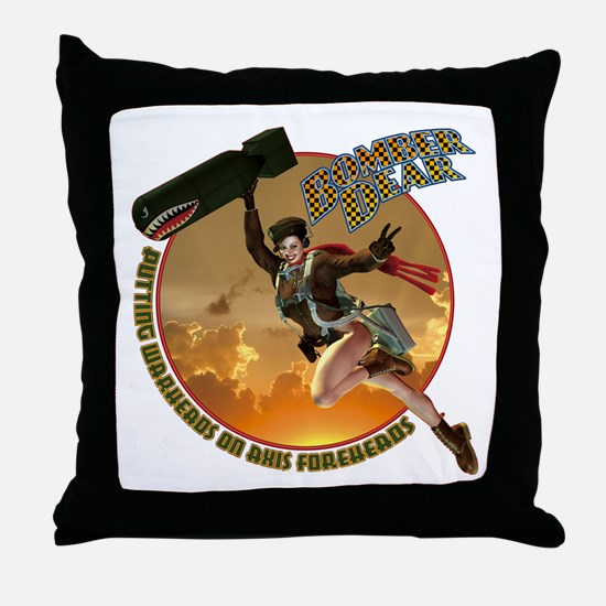 Bomber Dear Throw Pillow