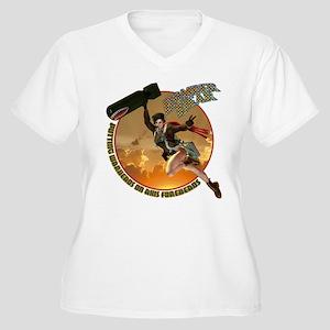 Bomber Dear Women's Plus Size V-Neck T-Shirt