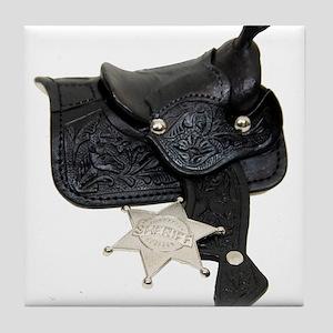 Sheriff Badge Saddle Tile Coaster