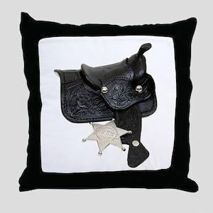 Sheriff Badge Saddle Throw Pillow