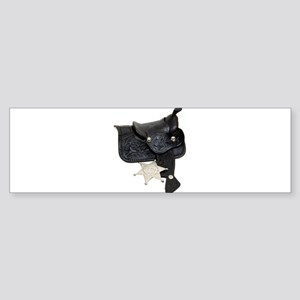 Sheriff Badge Saddle Sticker (Bumper)