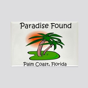 Paradise Found- Palm Coast, F Rectangle Magnet