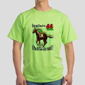 jockey cat Green T-Shirt