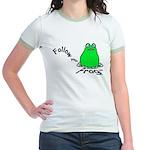 Follow Your Frog Jr. Ringer T-Shirt