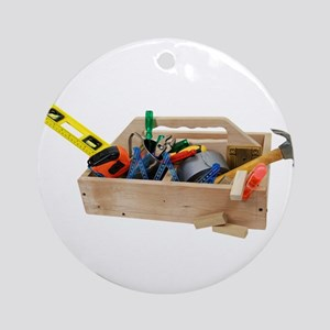 Wooden Toolbox Ornament (Round)