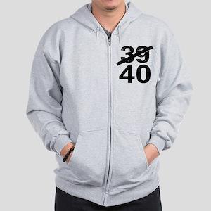 40th Birthday Zip Hoodie