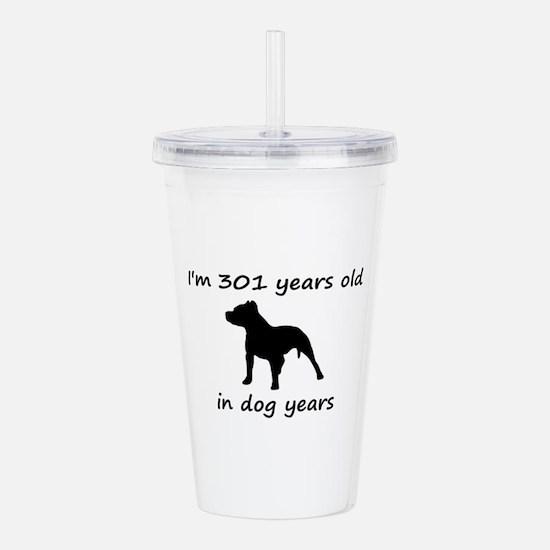 43 Dog Years Pitbull 1C Acrylic Double-wall Tumble