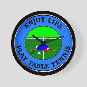 Enjoy Life Play Table Tennis Wall Clock