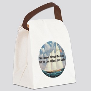 We Cannot Adjust the Wind Canvas Lunch Bag
