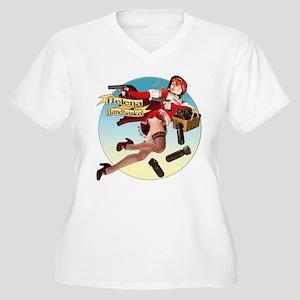 Helena Handbasket Women's Plus Size V-Neck T-Shirt