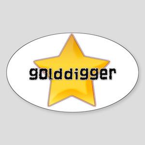 Golddigger Oval Sticker
