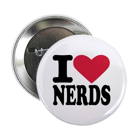 """I love nerds 2.25"""" Button (10 pack)"""