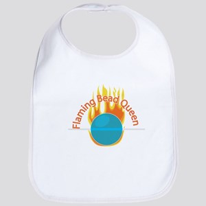 Flaming Bead Queen Bib