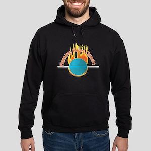 Flaming Bead Queen Hoodie (dark)