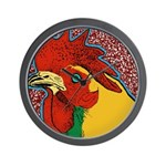 Bright Rooster Wall Clock