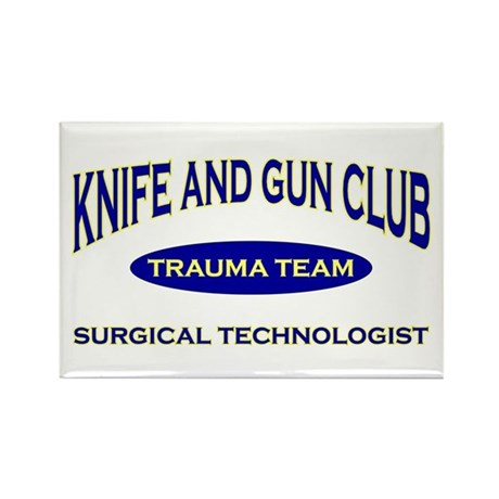 Knife & gun club (also light Rectangle Magnet