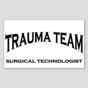 Trauma Team ST - black Sticker (Rectangle)