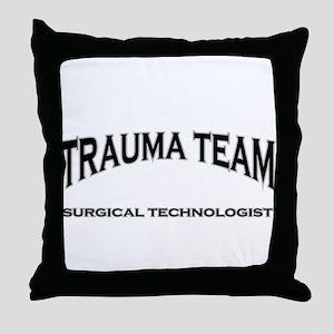 Trauma Team ST - black Throw Pillow