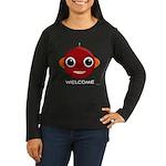 Robot Women's Long Sleeve Dark T-Shirt (colors)