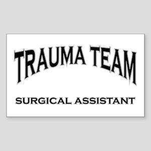 Trauma Team SA - black Sticker (Rectangle)
