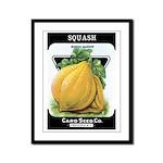 Vintage Seed/Produce Labels Framed Panel Print