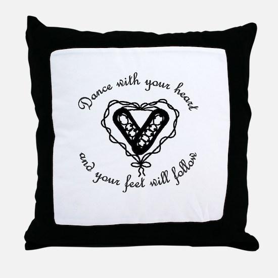 Cute Irish dance Throw Pillow