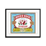 Vintage Syrup Label Framed Panel Print