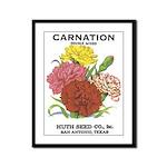 Vintage Carnation Seed Label Framed Panel Print