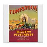 Vintage Vegetable Label Tile Coaster