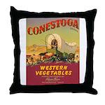 Vintage Vegetable Label Throw Pillow