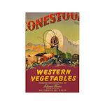 Vintage Vegetable Label Rectangle Magnet