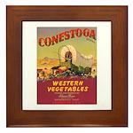 Vintage Vegetable Label Framed Tile