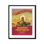 Vintage Vegetable Label Framed Panel Print