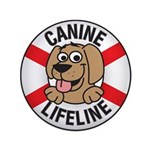 "Canine Lifeline 3.5"" Button (100 pack)"