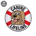"Canine Lifeline 3.5"" Button (10 pack)"