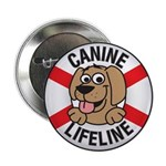 "Canine Lifeline 2.25"" Button (10 pack)"
