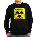 CARBON EMISSION DANGER Sweatshirt (dark)