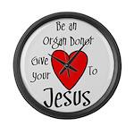 organ donor Jesus heart Large Wall Clock