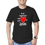 organ donor Jesus heart Men's Fitted T-Shirt (dark