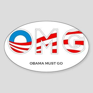 Obama Must Go Sticker (Oval)