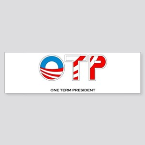 One Term Presidency Sticker (Bumper)