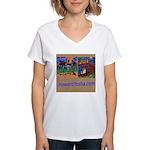 Orange County Storefronts Women's V-Neck T-Shirt