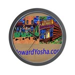 Orange County Storefronts Wall Clock