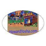Orange County Storefronts Sticker (Oval)