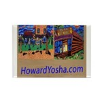 Orange County Storefronts Rectangle Magnet (100 pa
