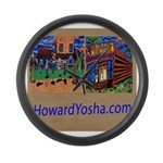 Orange County Storefronts Large Wall Clock