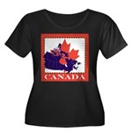 Canada Map with Maple Leaf Ba Women's Plus Size Sc