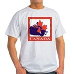 Canada Map with Maple Leaf Ba Light T-Shirt