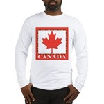 Canada with Red Maple Leaf Long Sleeve T-Shirt
